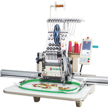 Única cabeça máquina bordada máquina do bordado da lantejoula de 12/15 cores