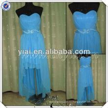 PP2580 реальный образец спереди короткие сзади длинные дешевые вечернее платье