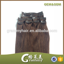 No tangle no shed factory wholesale cheap remy triple weft clip in hair extension