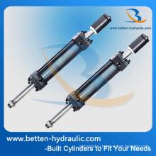 Структура поршневого цилиндра и гидравлический цилиндр с двойным контуром для вилочного погрузчика
