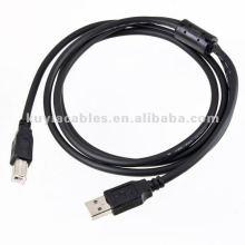 1.5m 5ft USB ao cabo da impressora 2.0 padrão am a bm M / M preto