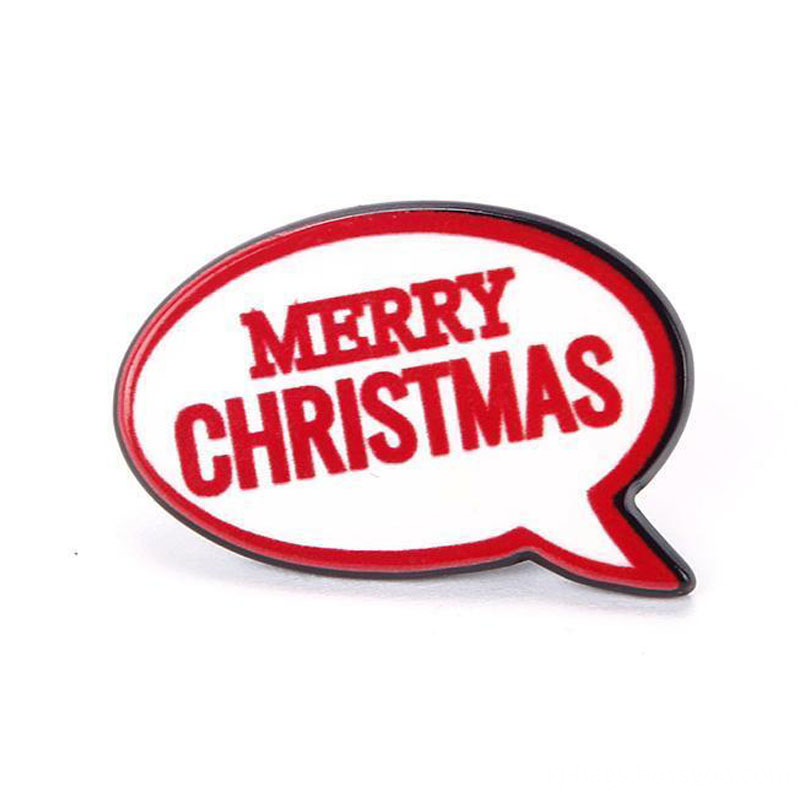 Red Merry Christmas Pin