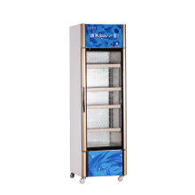 260L Vertical up Unit Opening Single Door Showcase