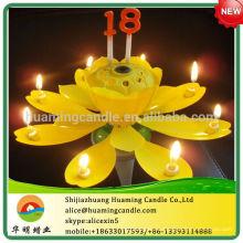 Número de Chrysanthemum Cumpleaños Vela -Fuego de Trabajo -A