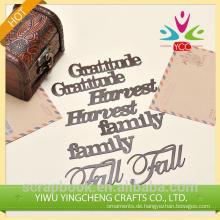 2015 Hangzhou Yiwu heißen Großhandel Metall Klebebuchstaben für Dekoration