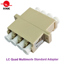 LC Quad Multimode Standard Plastic Fiber Optic Adapter