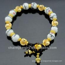 Handgefertigtes Bambus-Porzellan-Perlenarmband BC-005
