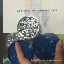 Nuevas 4 capas de metal molino Ecigator fumar molino de mango Rolling Herb Grinder