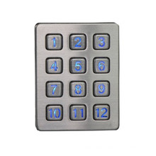Usb metal numeric keypad waterproof vending machine keypad