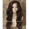 Linda peruca cheia do laço do cabelo humano de 100%