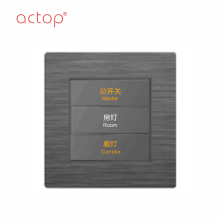 Shenzhen Actop com fio 1 Gang Smart hotel Switch