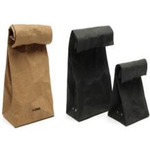 Квадратный мешок с крафт-бумажным пакетом с открытым ртом