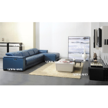 Chaise Italia Leather Sofa (420)