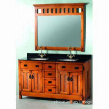Wooden Bathroom Cabinet, Composed of Mirror, Vanity Top, Basins, Sinks, Faucets and Cabinets