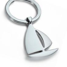 Promotion Silver Laser Engrave Logo Metal Boat Shape Keyring (F1395)
