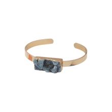 Moda étnica joyería brazaletes tendencia 2016 Snap On Cuff verde cristal pulseras