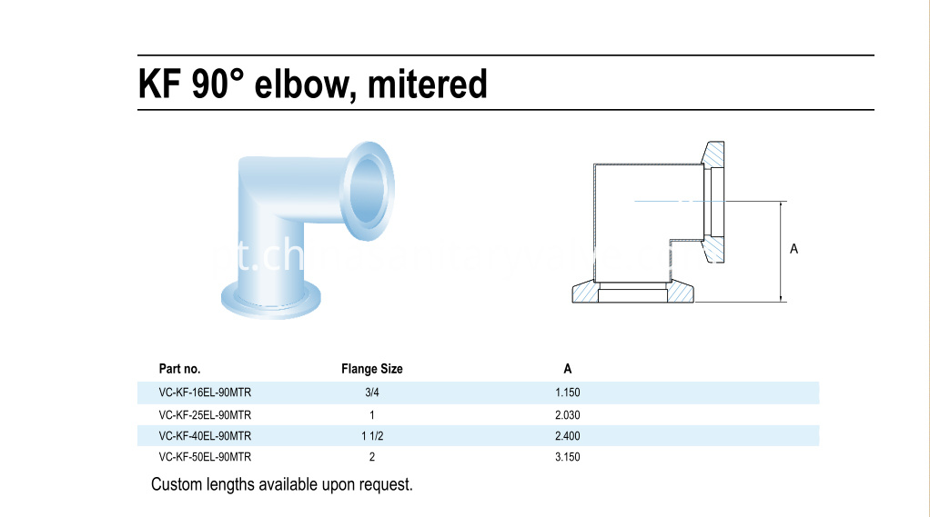KF 90 degree mitered elbow
