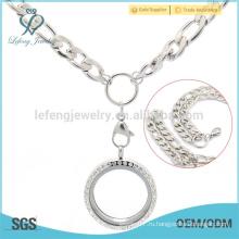 Хип-хоп диффузор медальон подвески ожерелье и цепочки, стальной мешок цепи