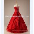 2017 nouvelle haute qualité hors épaule robe de mariée en dentelle rouge avec diamant
