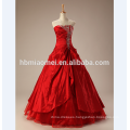 2017 new high quality off shoulder red lace wedding dress with diamond