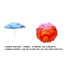 1300mmx8k Wind Resist papier-imprimé Oxford Beach parapluie (YSBEA0021)