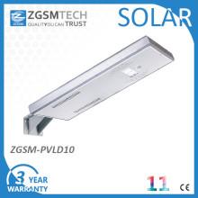 10W LED extérieur solaire rue lumière tout en un