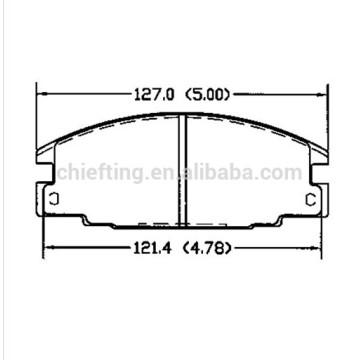 For HONDA FORD OPEL ISUZU VAUXHALL D363 MK brake pad
