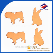 Wholesaler cheap price blank samll animal shape dog tag