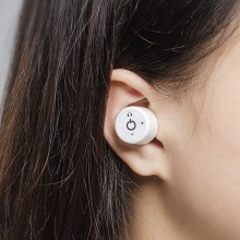 Auricular impermeable blanco de Bluetooth