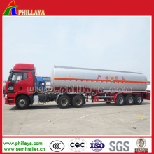 Semi-remolque del tanque de combustible del acero de carbono con el volumen Opptional