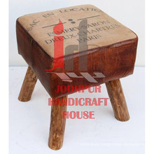 Square Canvas Printed Stool