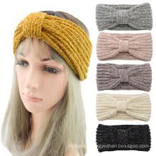 Bandeau fascia per capelli Braid knotted  sports headband ear protection headgear handmade Autumn Winter Thick hair accessories