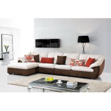 Canapé d'angle de tissu de salon de salon moderne