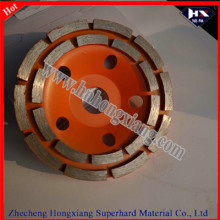 Double Row Diamond Grinding Cup Wheels for Concrete