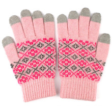 Lady Fashion Wool Knitted Touch Screen Magic Warm Gloves (YKY5438)
