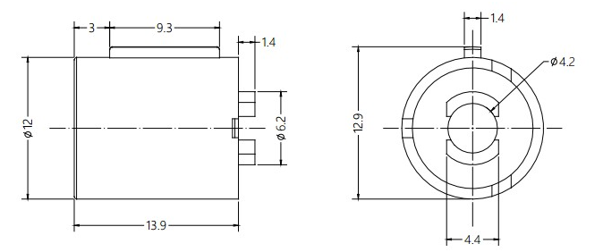 Automobile Interior Decoration Barrel Damper Drawing