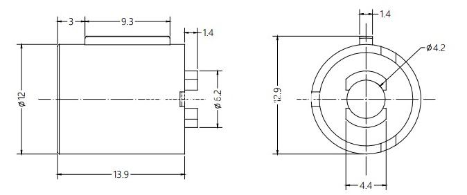 Barrel Damper Drawing For Car Door Handle