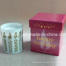 Vela de cumpleaños perfumada de lujo personalizada de soja