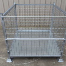 Galvanized Stackable Metal Steel Pallet Crate Untuk Stacking
