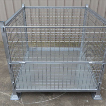 Galvanized Stackable Metal Steel Pallet Crate For Stacking