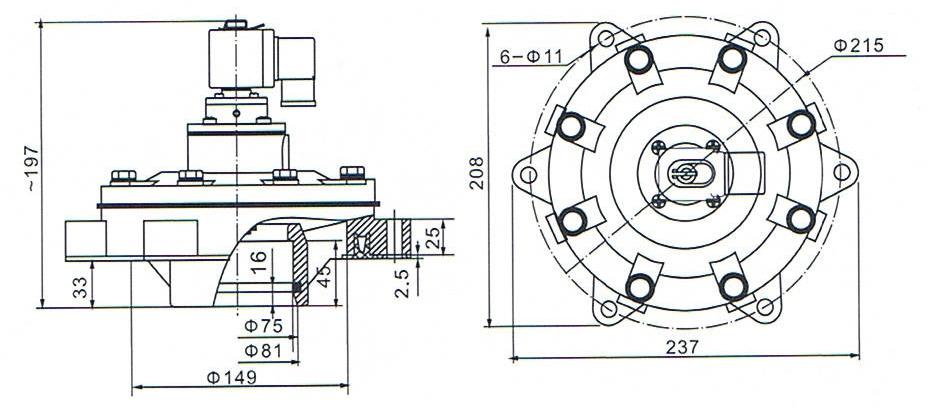 DMF-Y-62S SBFEC Type Embedded Pulse Valve