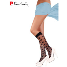 Pierre Cardin OEM Women's 15 Denier Elegant Patterned Knee High Socks 3 Colors