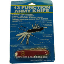 JML en acier inoxydable couteau de poche multifonction / couteau pliant