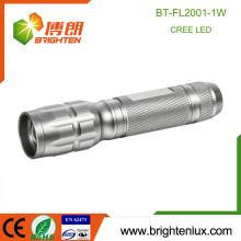 Factory Wholesale 1*AA cell Powered Aluminum Material Emergency Housing Zoom Focus 1watt Cree led Small Powerful Flashlight