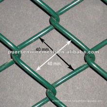 PVC recubierto cadena Link Fence fábrica y empresa