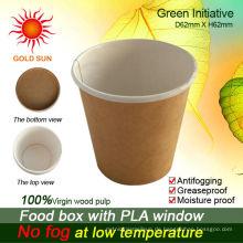 Kundenspezifische Logo-Wegwerfpapierschale für das kalte Trinken