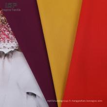 tissu uni en coton de nylon tissé uni de couleur