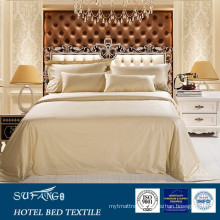 100% Cotton 400TC ,600TC Light colour luxury fabric hotel bedding set