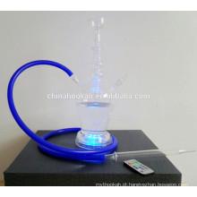 GH077-LT borosilicato de vidro cachimbo shisha / nargile / tubo de água / com luz led / sheesha / narguile