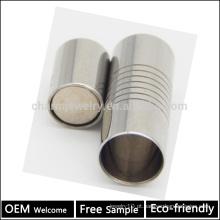 BX007 Atacado 304 aço inoxidável magnético fecho do barril para corda pulseiras DIY jóias Apreciação amostra livre 2/3/4/5/6/7 / 8MM